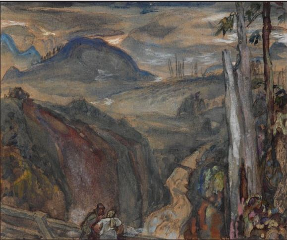 Painted by Frederick Varley from his house in Lynn Valley