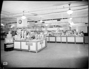 The Woodward Department Store's food floor in 1938