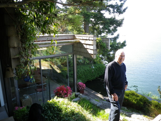 Barry Downs and the West Coast modern house he designed in 1979