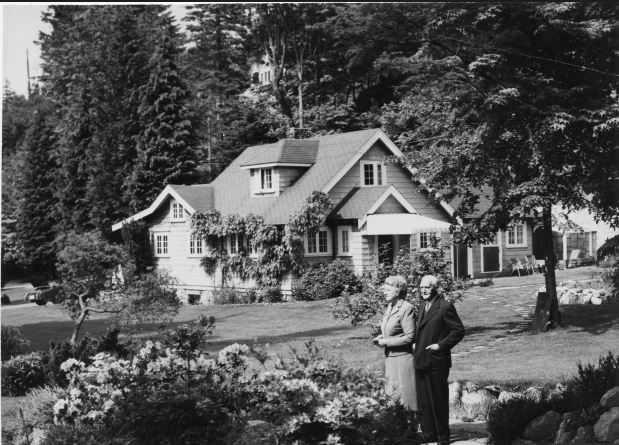 Major General Victor Odlum and his wife at Rocklands in West Vancouver