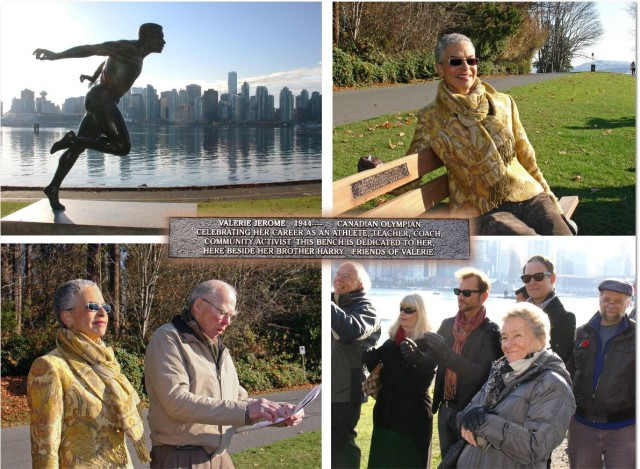 In November 2012 friends and former students of Valerie Jerome dedicated a bench in her honour