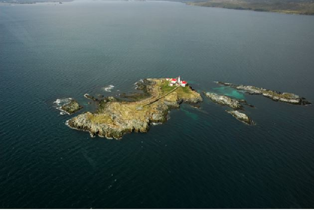 Green Island is the most northern lighthouse in the province