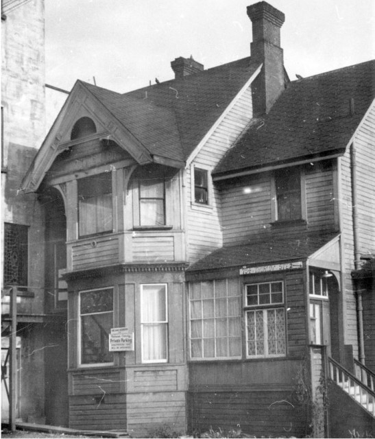 Rear of 754 Thurlow Street in 1956 CVA Bu P508-19