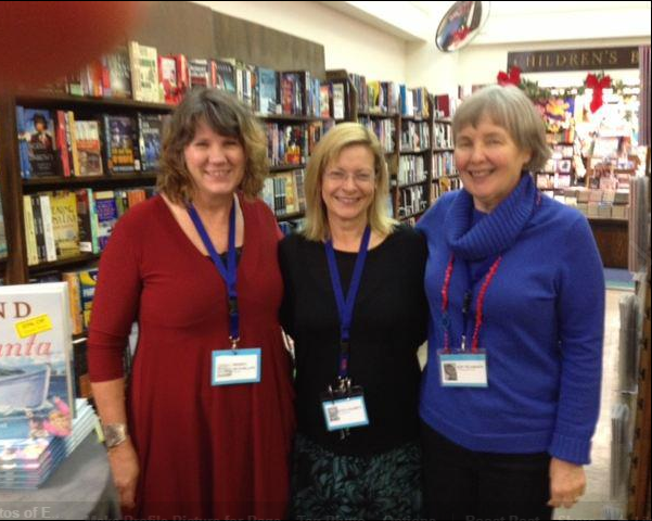 Sheryl McFarlane, Eve Lazarus and Kit Pearson at an Author's Night in December 2012