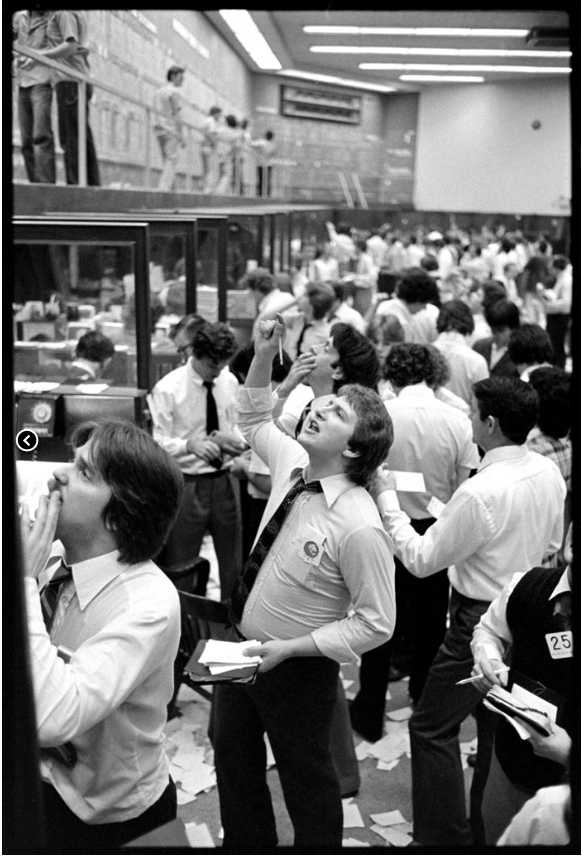 The trading floor of the VSE in its heyday in the 1970s