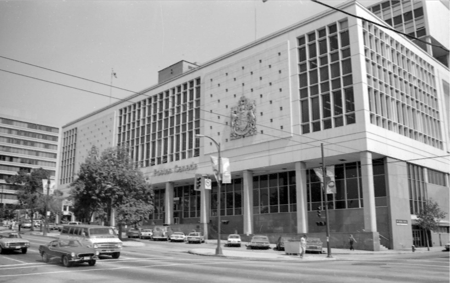 Canada Post building in 1981, photo courtesy Vancouver Archives 779-E12.02