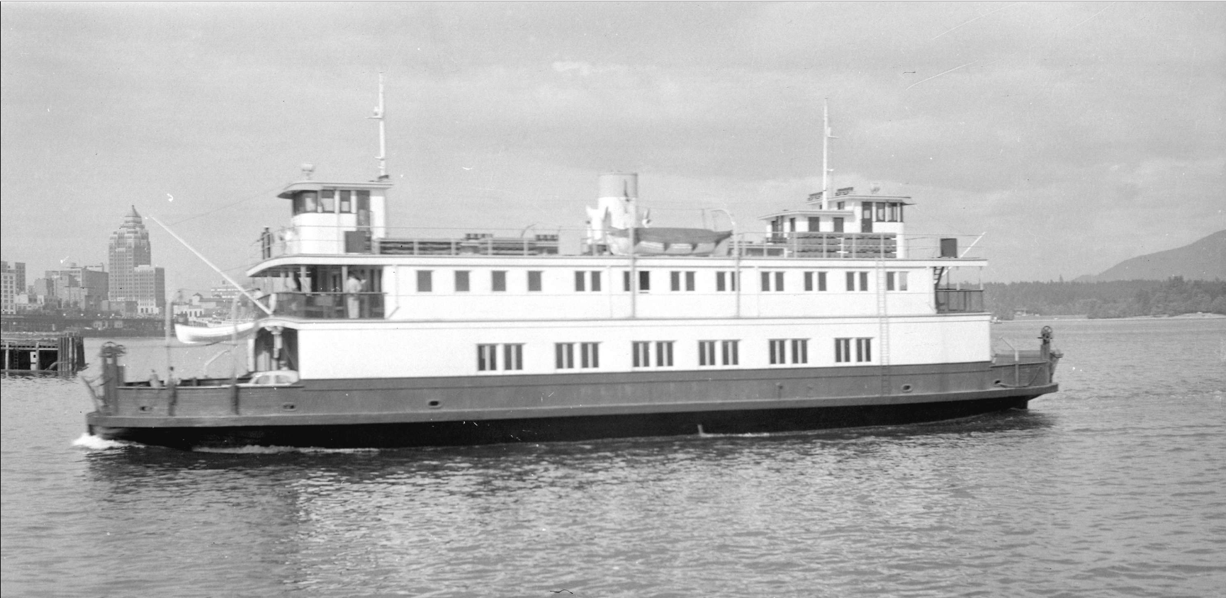 Ferry No. 5 in 1958. Photo courtesy Vancouver Archives 447.7232.1